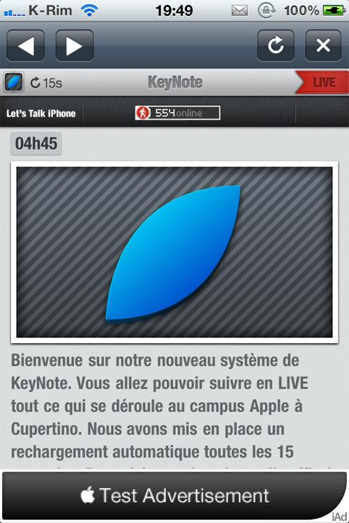 16 Lets Talk iPhone : Suivez le Live en direct [18h30]