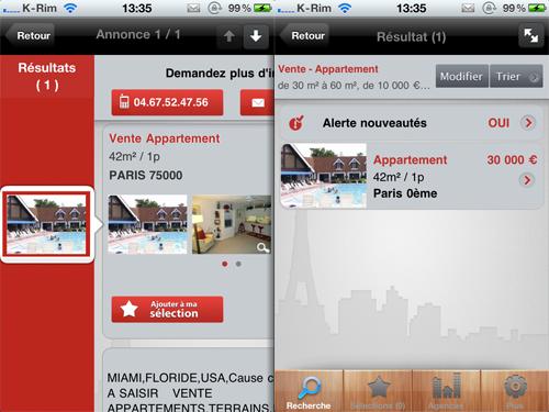 3 A Vendre A Louer, Limmobilier facile sur iPhone, LE test