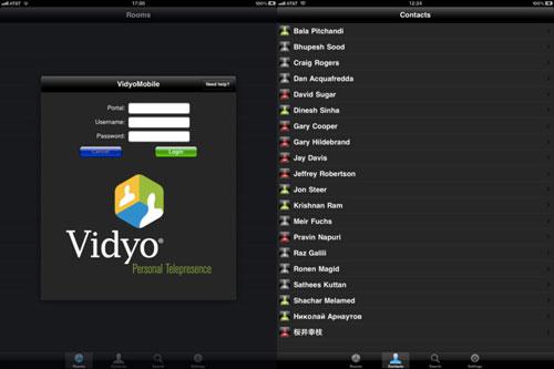 36 VidyoMobile la vidéoconférence Full HD sur iPhone et iPad