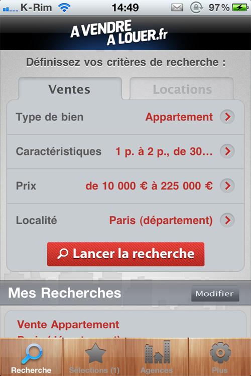 41 A Vendre A Louer, Limmobilier facile sur iPhone, LE test