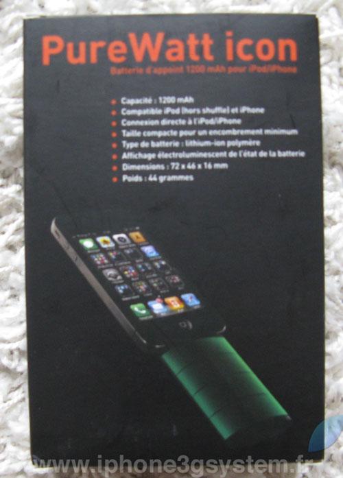 Boite iPhConcours   Batterie Novodio PureWatt Icon [MAJ]