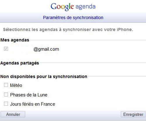 GCAL2 Astuce : Synchroniser le calendrier iOS avec Google Calendar