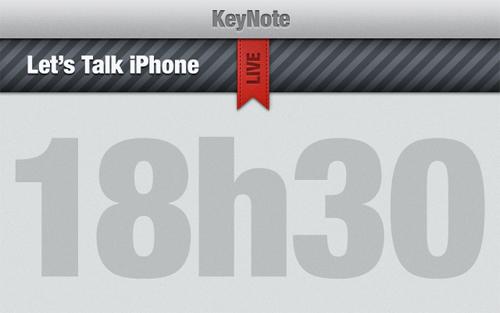 KeyNote2 Lets Talk iPhone : Suivez le Live en direct [18h30]
