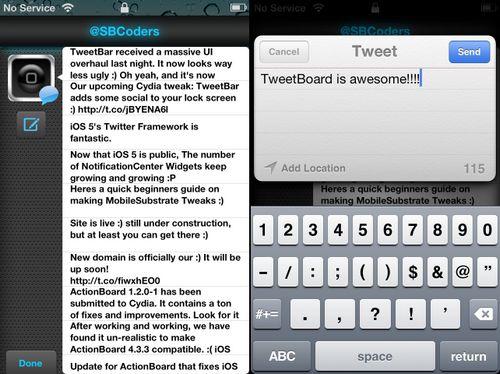 TweetBoard TweetBoard : Tweetez depuis le Lockscreen !