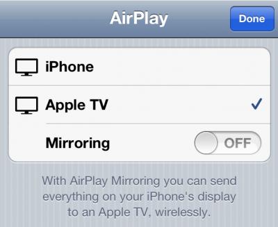 airplay2 Comment connecter son iPhone 4S sur un téléviseur avec AirPlay