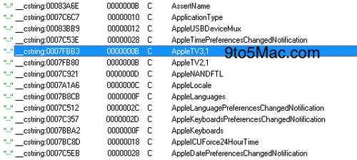 appletv31 Un nouvel Apple TV apparait dans liOS 5