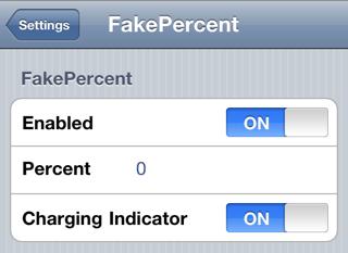 fakepercent FakePercent affiche un faux pourcentage de batterie