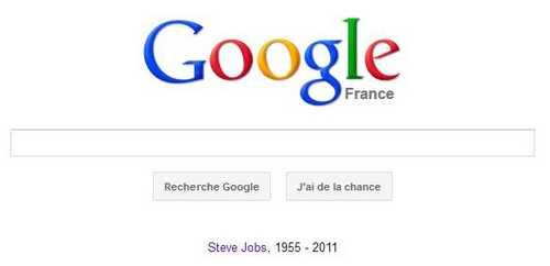 googl Les grands rendent hommage à Steve Jobs
