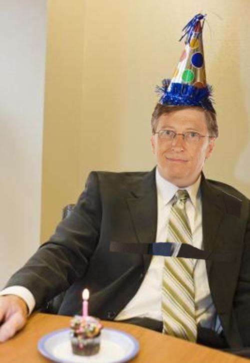happy birthday bill gates1 Aujourdhui cest lanniversaire de Bill Gates...