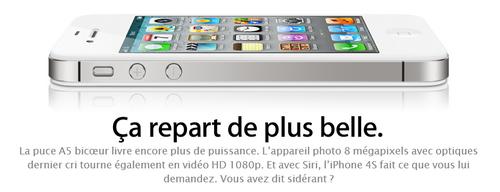 iphone 4S Tim Cook présente liPhone 4S et liOS 5
