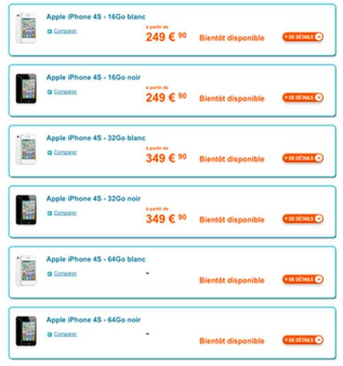 iphone4s apple bouygues telecomY N 310991 13 LiPhone 4S en pré commande chez Orange et Bouygues [MAJ]