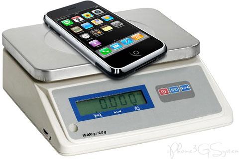 iphone balance Plus votre iPhone est rempli, plus il est lourd !