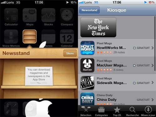 kiosque Kiosque ouvre ses portes sur iOS 5