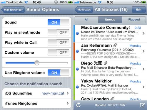 mailenhancer1 Mail Enhancer passe en version 2.5 1