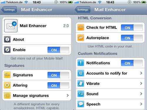 mailenhancer3 Mail Enhancer passe en version 2.5 1
