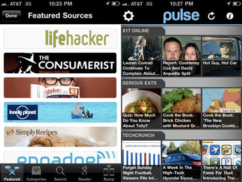 majappstorepule Pulse News Mini se met à jour pour liOS 5