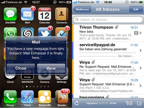 menhancer Mail Enhancer passe en version 2.5 1