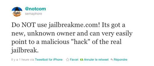 notcom JailbreakMe.com racheté : le nom de domaine nappartient plus à comex
