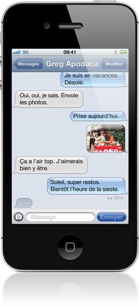 overview messages Tim Cook présente liPhone 4S et liOS 5