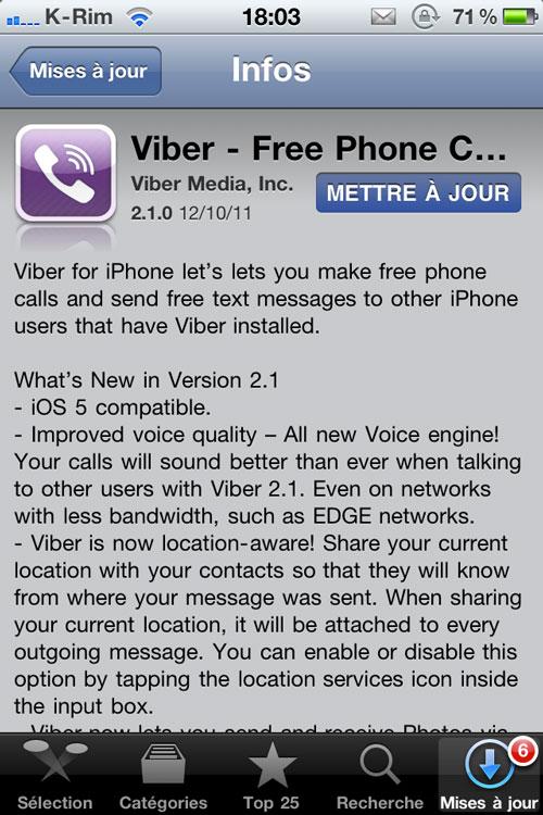 photo 1 1 Viber se met à jour et passe en 2.1