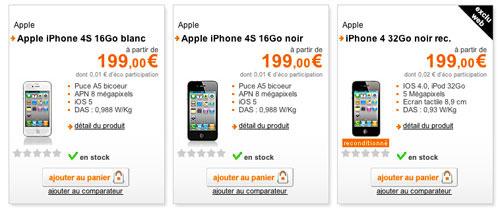 precommande orange iphone4s LiPhone 4S en pré commande chez Orange et Bouygues [MAJ]