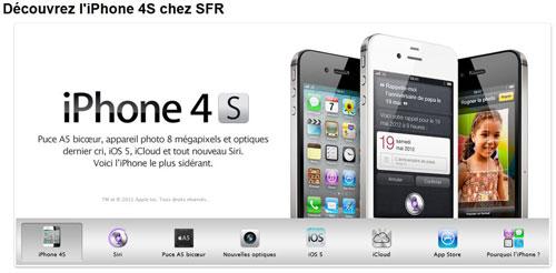 sfr1 LiPhone 4S apparait chez Orange et SFR