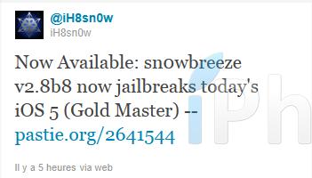 snowbreezev2.8b8 RedSn0w et Sn0wBreeze supportent liOS5 GM [BONUS]