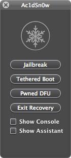 128 Ac1dSn0w est disponible : jailbreak tethered iOS 5.0 / 5.0.1