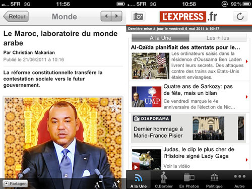 Sans titre 12 LExpress, linformation en continu sur votre iPhone