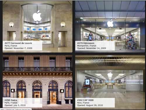 Sans titre 16 Une photo de tous les Apple Stores du monde