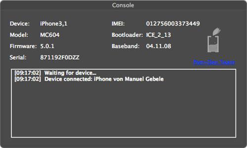 acsn Ac1dSn0w est disponible : jailbreak tethered iOS 5.0 / 5.0.1