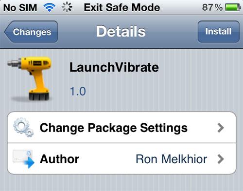 launchvibrate LaunchVibrate fait vibrer votre appareil