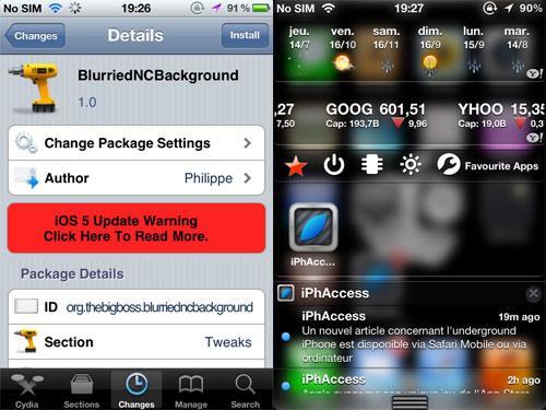 ndcblur [CYDIA] Liste des tweaks compatibles iOS 5.1.1