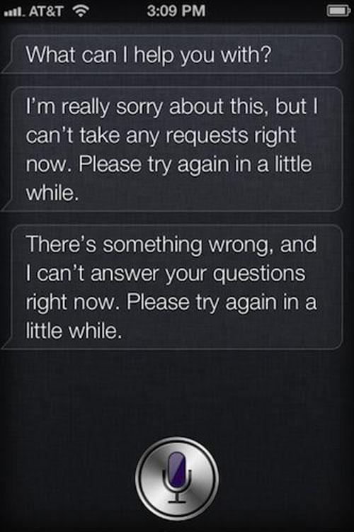 siri outage Quand Siri tombe en panne...