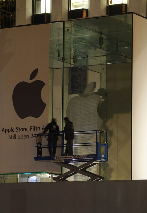 storenewyrok 20111104 100405 Un nouveau cube pour lApple Store de New York