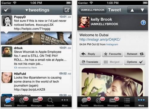 tweetings screen Tweetings se met à jour en version 4.4.3