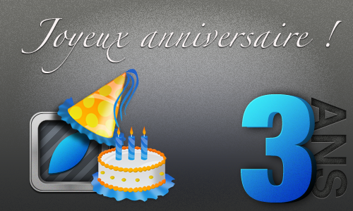 ANNIV iPhone3GSystem fête son 3ème anniversaire !
