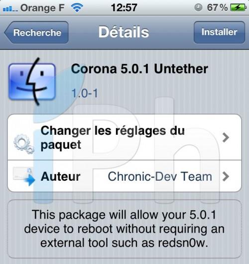 CORONA 500x529 Corona : Passez de tethered à untethered sans ordinateur