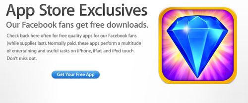 Sans titre 12 Apple offre le jeu Bejeweled