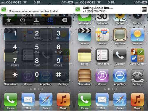 callbar [CYDIA] Liste des tweaks compatibles iOS 5.1.1