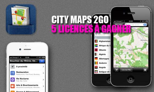 concours CM2GO Concours : 5 licences pour City Maps 2Go à gagner [MAJ]