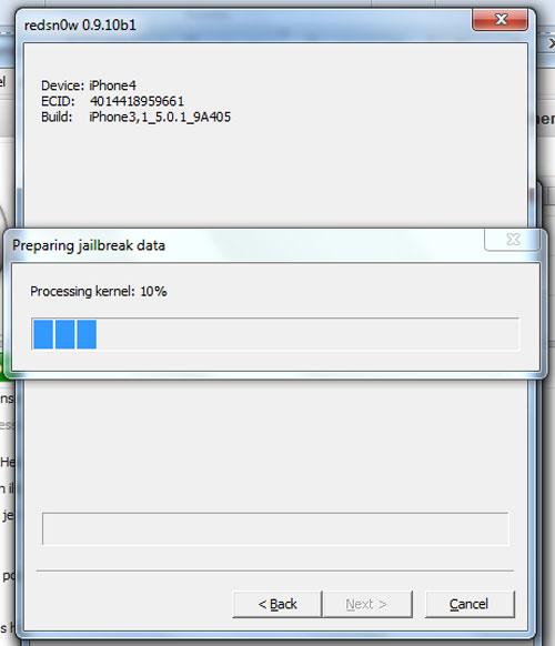 jailbreak untethered windows 7 008 Jailbreak Untethered pour iPhone sous iOS 5.0.1 avec Windows