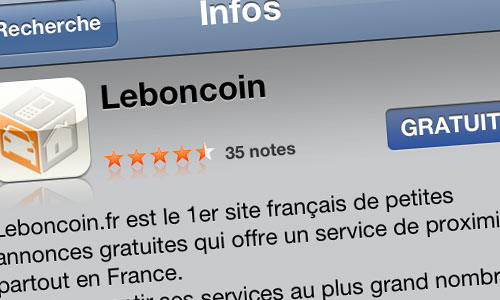 leboincoin iphone Leboncoin sort son application iPhone