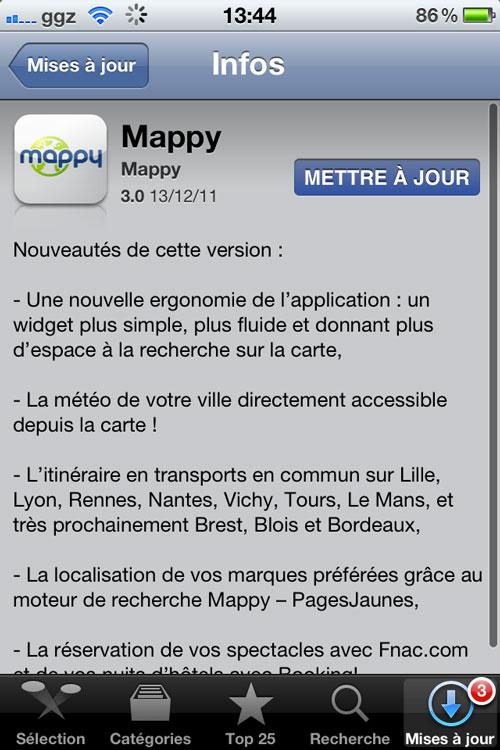 mappy se met jour et passe en version 3 0 appsystem. Black Bedroom Furniture Sets. Home Design Ideas