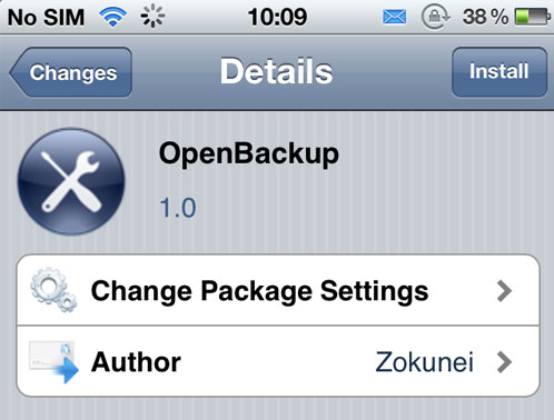 openbackup OpenBackup sauvegarde gratuitement vos paquets cydia