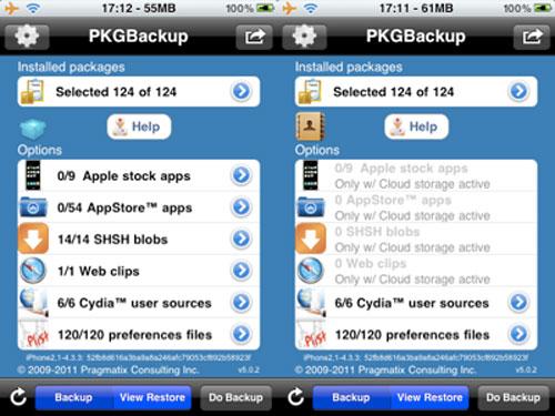 pkgbacupmaj Cydia : PkgBackup passe en version 5.1.7
