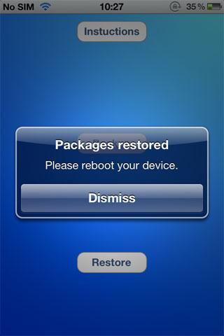 restore OpenBackup sauvegarde gratuitement vos paquets cydia