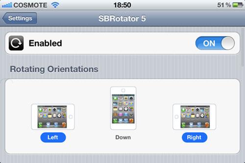 sbrsettingsplugin2 Rotate Settings for SBRotator fait tourner les réglages