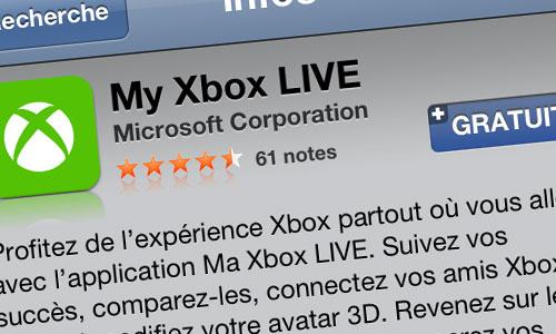 xbox Microsoft lance lapplication My Xbox LIVE