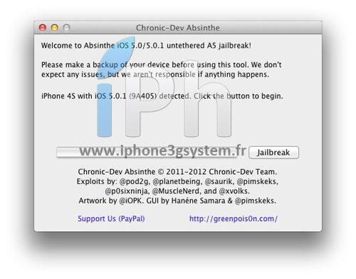 13 TUTO Jailbreak Untethered iPhone 4S / iPad 2 iOS 5.0 / 5.0.1